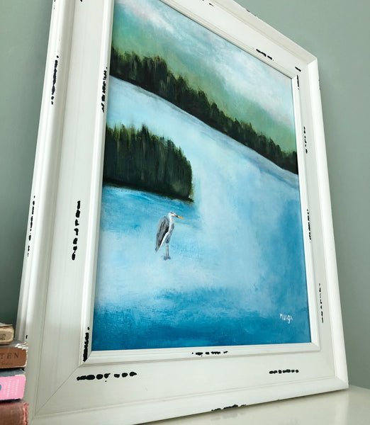 Framed original painting for sale