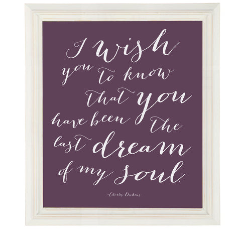 Charles Dickens Quote Art Print