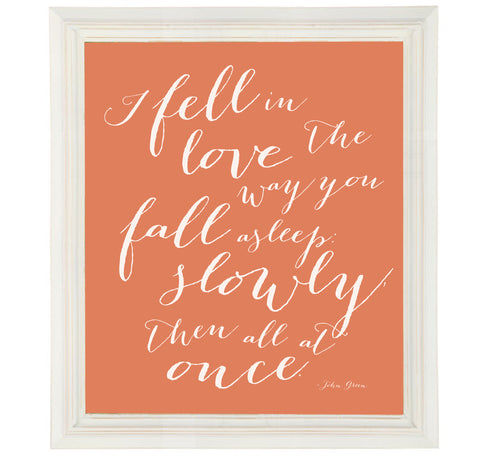 John Green Quote Art Print