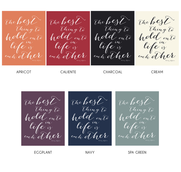 Audrey Hepburn Art Quotes with Custom Color options