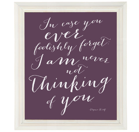 Virginia Woolf Quote Art Print