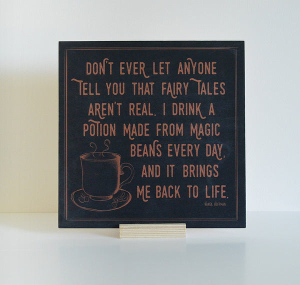 Coffee Lovers Morning Wood Sign