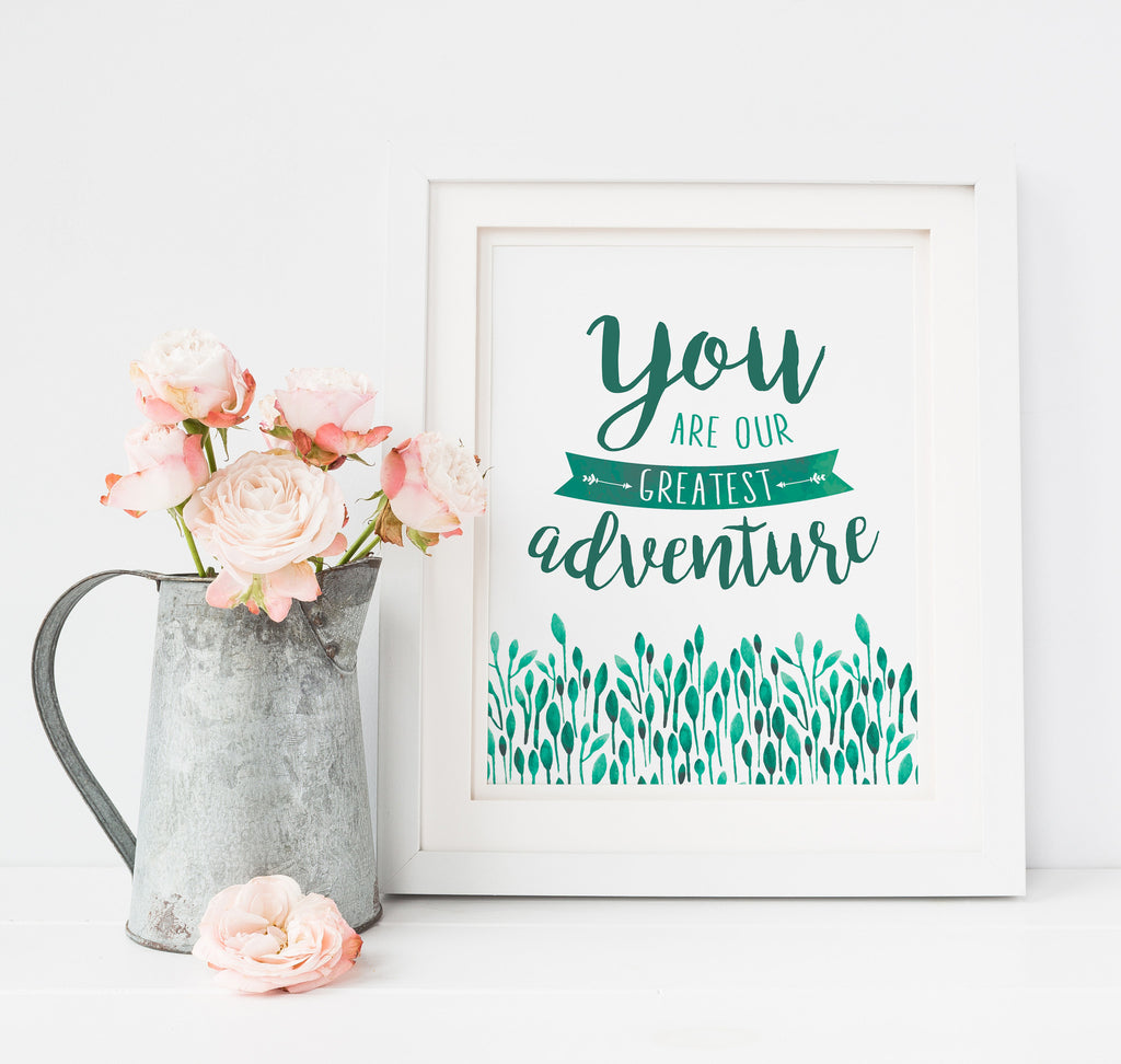 You are our Greatest Adventure Small Print Mockup