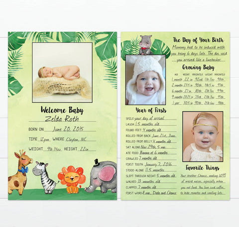 Baby's Greatest Hits Jungle Animals Baby Book Alternative