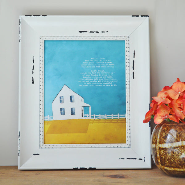 Framed Love is a House 8x10 Canvas Mini in Farmhouse Eggshell