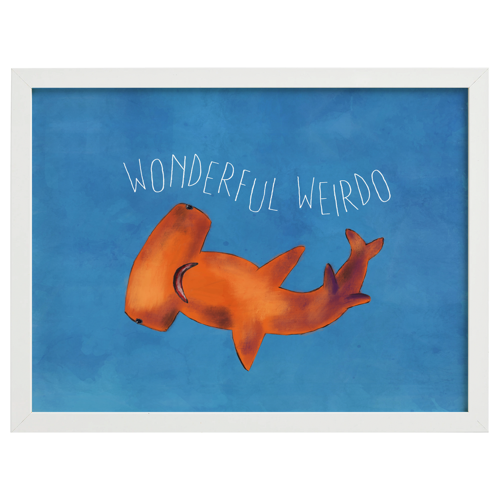 Wonderful Weirdo Hammerhead Shark Painting