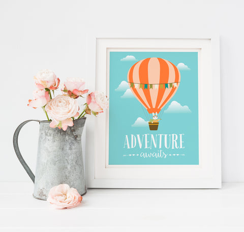 Adventure Awaits Nursery Print