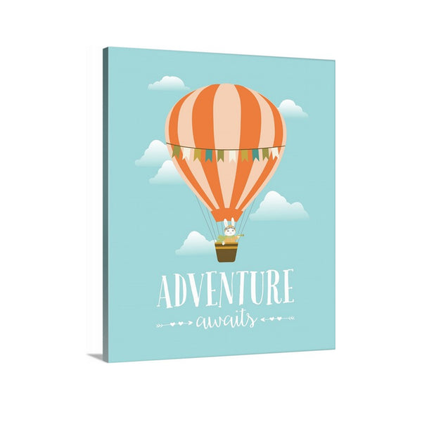 Adventure Awaits Canvas Nursery Art