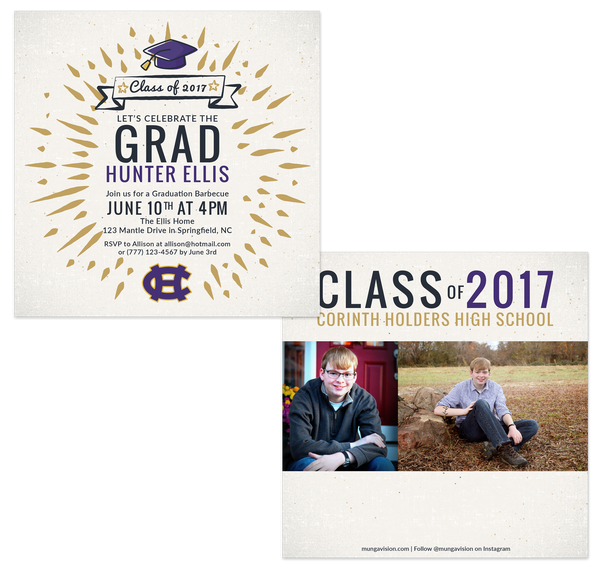 Custom Square Graduation Card Design by Munga Vision