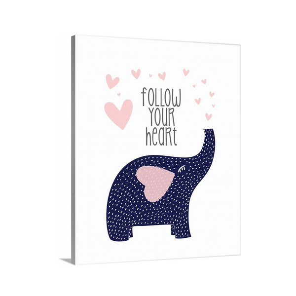 Follow Your Heart Canvas Nursery Art