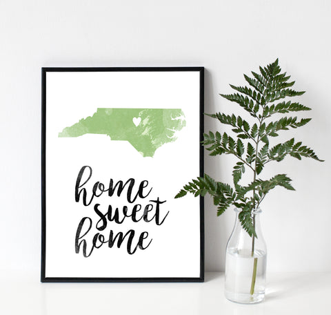 Custom Home Sweet Home Decor Sign with Home State and City