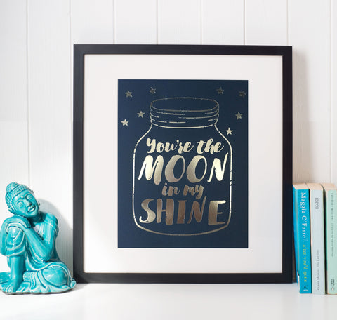 You're the Moon in My Shine Art | Song Lyric Print by Tyler Farr music