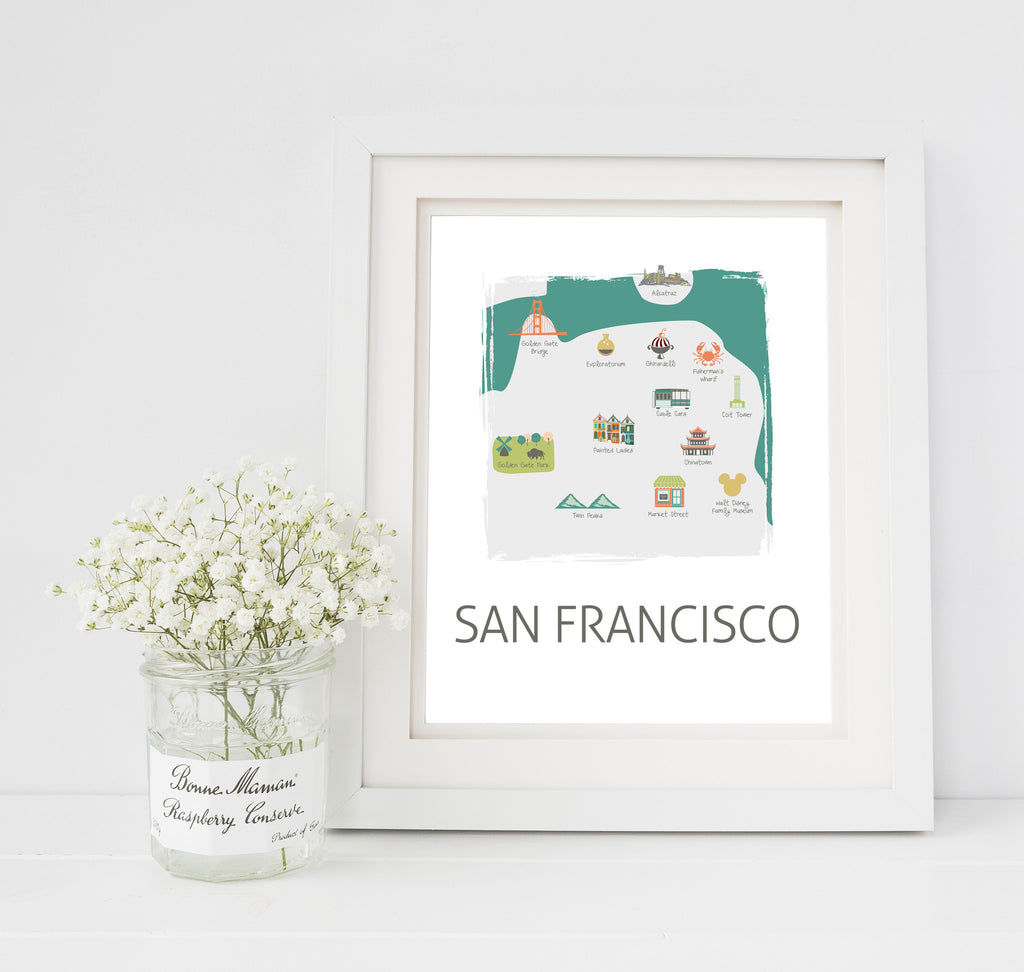 San Francisco Travel Map Nursery Print on visit orlando map, cincinnati travel map, sutter street sf map, monterey bay travel map, new zealand travel map, mobile travel map, michigan travel map, florida travel map, chicago travel map, american museum of natural history map, brooklyn travel map, montreal travel map, colorado travel map, pattaya travel map, charleston sc travel map, city of sausalito ca map, spain travel map, city travel map, tokyo travel map, istanbul hotels map,