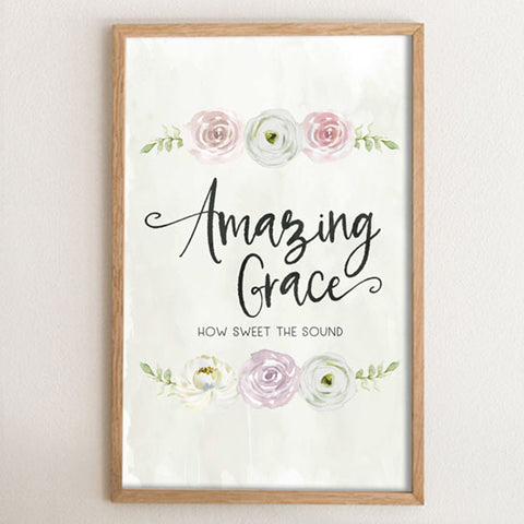 Amazing Grace Floral Art Print
