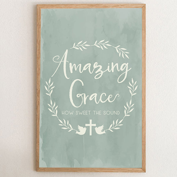 Amazing Grace Farmhouse Style Art Print