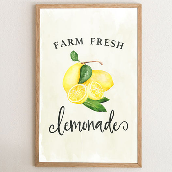 Farm Fresh Lemonade Art Print