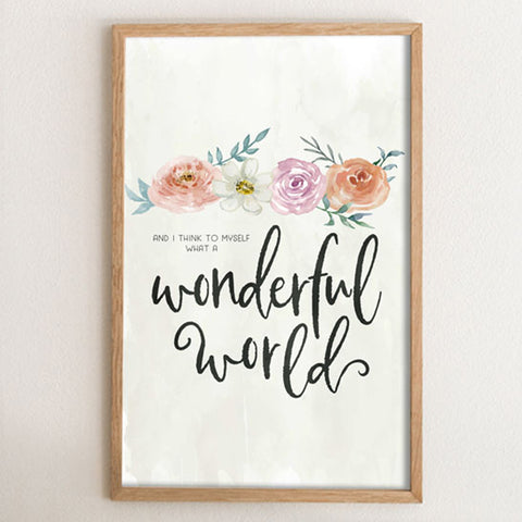 Floral Wonderful World Art Print