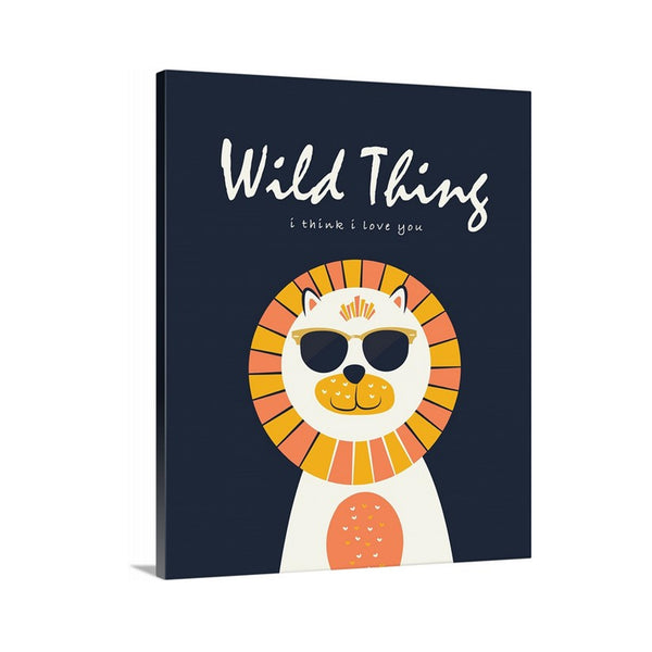 Wild Thing I Think I Love You Lion Canvas Art for Nursery for Kids ROom