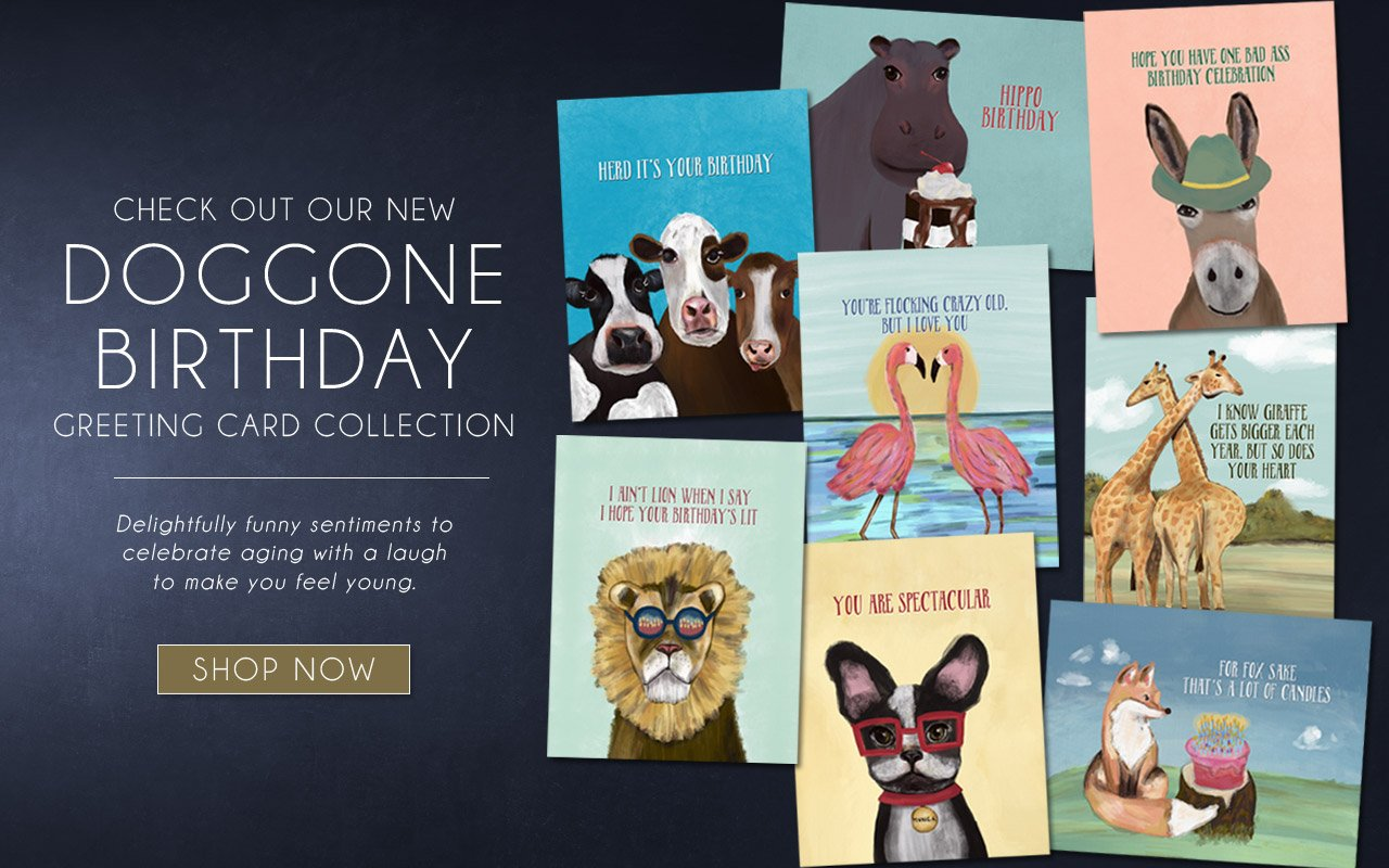 The Doggone Birthday Collection of Funny Birthday Cards featuring Animal Puns