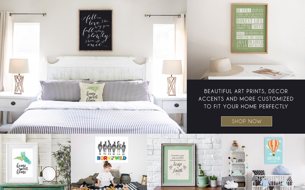 Customize your art print colors to match your room and favorite quote