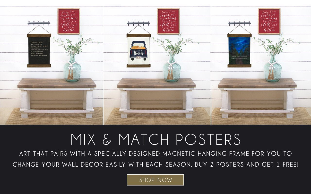 Shop our Poster art print series that work with our magnetic hanging frames