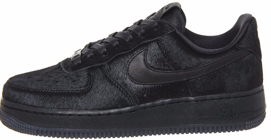 new product 1456f a9b80 Nike Air Force 1 Black Pony Hair