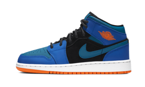Nike Jordan 1 Mid Racer Blue / Orange Gs