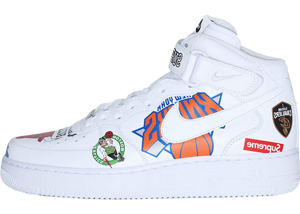 newest f7495 a7b05 Supreme x Nike Air Force 1 NBA White