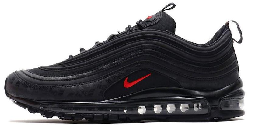 huge selection of 7811f 4b656 Nike Air Max 97 Black   University Red Reflective