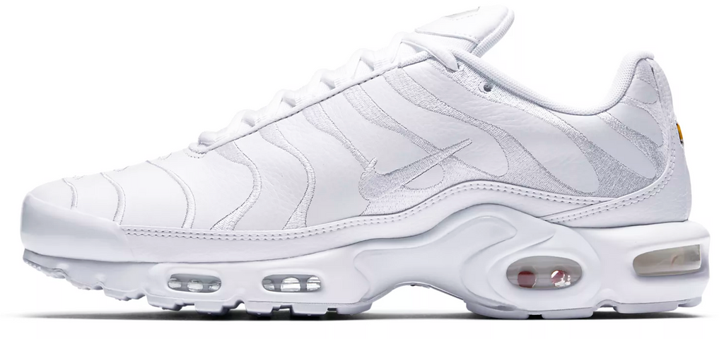 al por mayor online últimos diseños diversificados nueva lanzamiento Nike Air Max TN Leather Triple White – Soldsoles