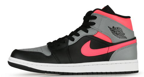 Nike Air Jordan 1 Mid Black / Hot Punch