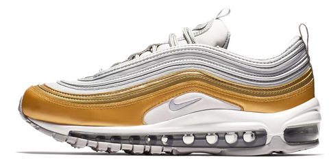 Nike Air Max 97 Triple White / Gold WMNS