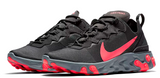 Nike React Element 55 Black / Solar Red WMNS