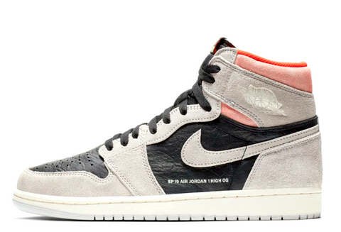 Nike Air Jordan 1 OG Grey / Hyper Crimson