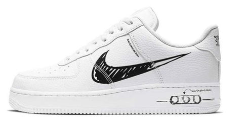Nike Air Force 1 Low Scribble White