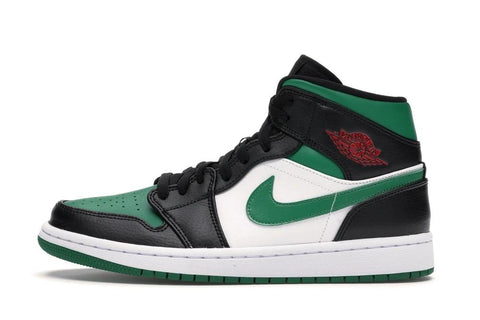 Nike Air Jordan 1 Mid Green Toe GS