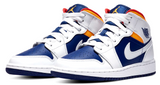 Nike Jordan 1 Mid Deep Blue / Orange GS