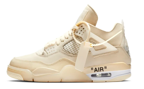 Off White x Nike Air Jordan 4 Sail WMNS