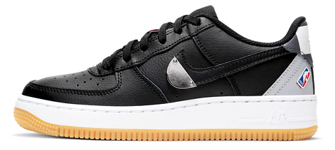 Nike Air Force 1 Junior NBA Black / Silver