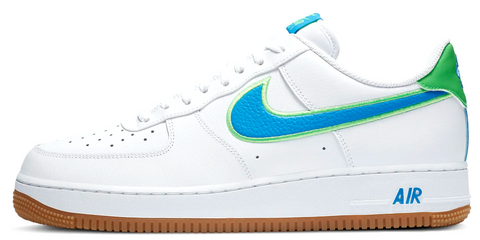 Nike Air Force 1 White Blue Green