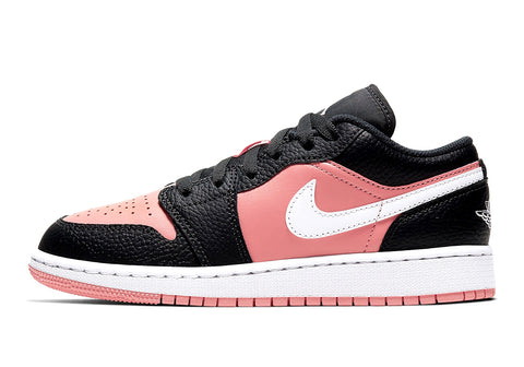 Jordan 1 Low Black Quart Pink GS