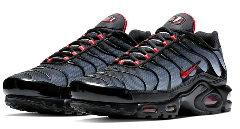 buy online d3977 6b8ae Nike Air Max TN Black / Red Junior – Soldsoles