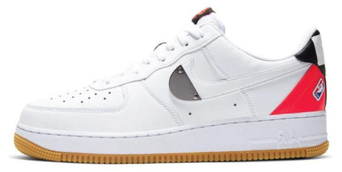 Nike Air Force 1 NBA Silver / Red