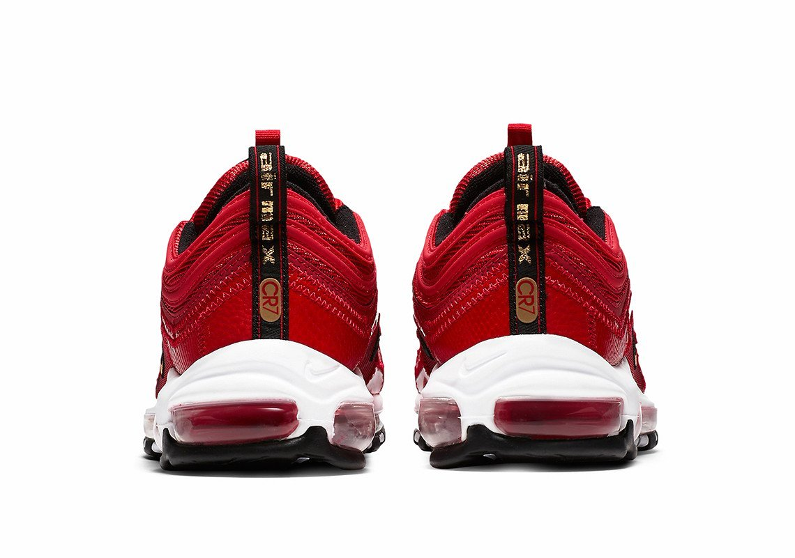 release date 48411 d1e9e Nike Air Max 97 CR7 Patch Work Gym Red
