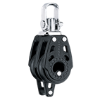 Harken 29mm Double Swivel Carbo Block with Becket