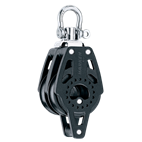 Harken 40mm Double Swivel Carbo Block with Becket