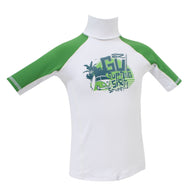 Gul  Short Sleved Junior Boys Rash Vest