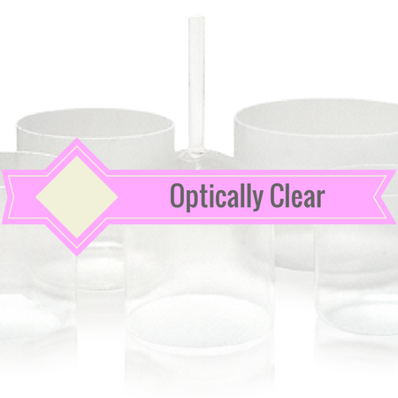 Healing Himalayas. Optically clear crystal singing bowls.