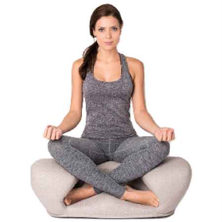 Image of Alexia Meditation Seat - Fabric - Dove Grey