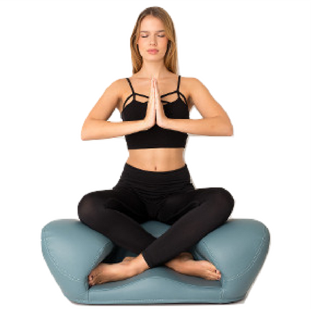 Alexia Meditation Seat - Vegan Leather - Light Blue